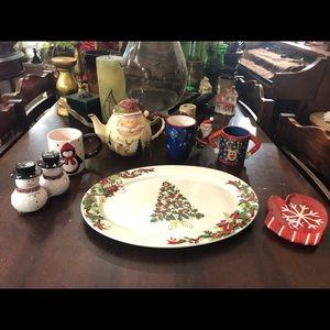 Christmas Collection:Platter, Teapot,mugs and more